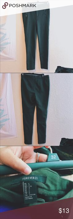 NWOT Forever 21 Pants These are cute olive green forever21 pixie like pants! The are NWOT and are a size Large. Forever 21 Pants Skinny