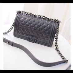 0108ab087851 Pvc toyboy jelly gray   Silicone pvc jelly material waterproof cute large  bag measures just oo Toyboy Bags Crossbody Bags