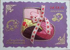 Iris Folding Babykarte
