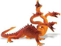 4-Headed Orange Dragon from Safari Limited #dragons
