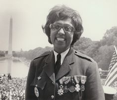 Josephine Baker, wearing her medals from her service in the French Resistance during World War II, at the March on Washington, 1963. Photo by Irving Williamson