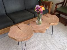Live Edge Tree Round Coffee Table by FitzWoodworks on Etsy