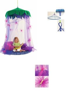 fairy canopy-this top combined with the other play tent. perfect
