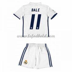 Billige Fodboldsæt Real Madrid Børn 2016-17 Bale 11 Kortærmet Hjemmebanesæt