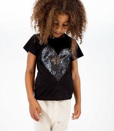 HELGA SoLRUN KIDS unisex basic crew cotton jersey T-shirt detailed at front…