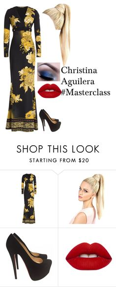"""Christina Aguilera #Masterclass"" by vale14m ❤ liked on Polyvore featuring Roberto Cavalli, Christian Louboutin and Lime Crime"