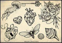 Brea Lanyon Illustration & Tattoo | Flash Designs
