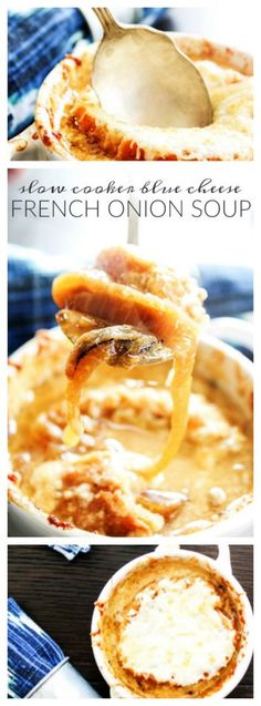 Slow Cooker Blue Cheese French Onion Soup  AD TisTheSeasonsPromo
