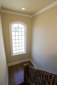 Another arched window with molding...