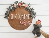 Personalized baby name signs are a must-have for any nursery. They are the perfect finishing touch to welcome your bundle of joy to their new home. Cute Baby Names, Unique Baby Names, S Baby Girl Names, Baby Must Haves, Nursery Signs, Nursery Decor, Girl Nursery, Baby Decor, Disney Nursery