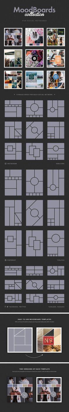 Social Mood Board Set - download freebie by PixelBuddha