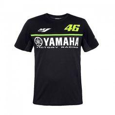 2017 Valentino Rossi VR46 for Yamaha Racing Black MotoGP Men's T-Shirt Quick Dry Jersey