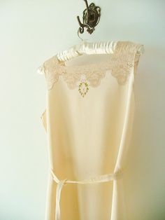 1930s Italian camisole nightgown w/ embroidery and by PittiVintage, $85.00