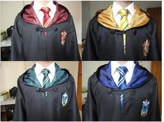 Harry Potter Robes with House Crests(: