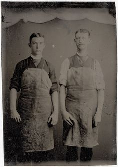 Two Workmen in Aprons - Occupational Tintype by Photo_History, via Flickr