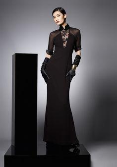 Womens Portfolio - Black lace dress By Shanghai Tang