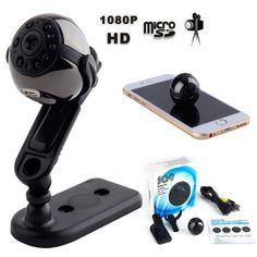 #NewYear #BuyinCoins - #BuyinCoins SQ9 HD 1080P 360 Rotation Mini Camera IR Night Vision Video Recorder DVR Cam - AdoreWe.com
