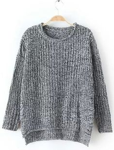 Casual Round Neck Solid Color Hollow Out Long Sleeve Pullover Sweater For Women Sweaters & Cardigans | RoseGal.com Mobile