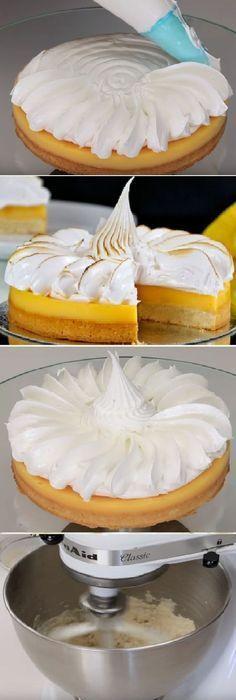 The best lemon or - Pies Recipes Pie Recipes, Sweet Recipes, Dessert Recipes, Cooking Recipes, Cupcakes, Cupcake Cakes, Pie Decoration, Venezuelan Food, Sweet Tarts