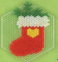 Christmas stocking hama beads pattern