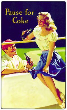 old coca cola ads and posters