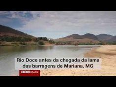Veja o Rio Doce antes e depois da enxurrada de lama.