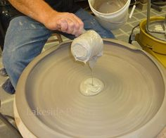 slide show tutorial on throwing a really large platter