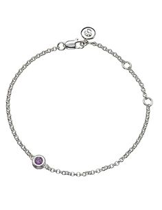 Molly Brown | February Amethyst Silver Birthstone Bracelet * Want to know more, click on the image. #Bracelets