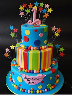 colorful childrens birthday cakes funny