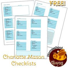 Charlotte Mason Daily & Weekly Checklists