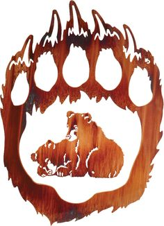 This bear cub wall art is both art and decor!