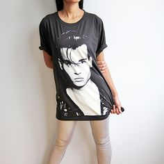 Johnny Depp Shirt Cry Baby Actor Movie Celebrity Screen Printed Men Women T Shirts Size L. $15.50, via Etsy.