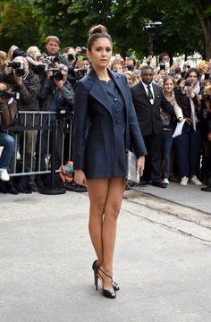 Nina Dobrev at the Chanel Haute-Couture F/W 14/15 Fashion Show...