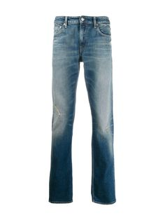CALVIN KLEIN JEANS WASHED DENIM JEANS. #calvinkleinjeans #cloth