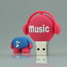 Cute Music Buddy 8GB 8 GB USB 2.0 Flash Drive Memory Stick Thumb Storage U Disk #UnbrandedGeneric