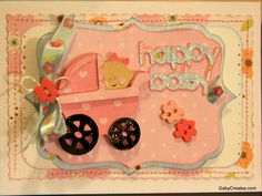 Baby carriage & title from cart