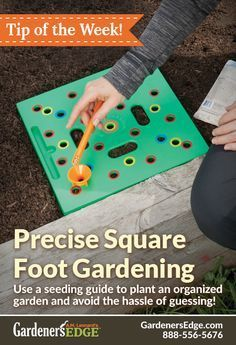 Square foot gardening - A seeding guide can help! Precise square foot gardening, for a beautiful organized garden this year. The Seeding Square Planting Guide | GardenersEdge.com