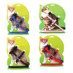628b93543 New polyester Pet Cat Dog Cat Harness Puppy Harness With Leash Belt  Traction Rope Cat Chest Strap Leash