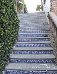 This Old Coconut Grove: Talavera Tiles for stair risers