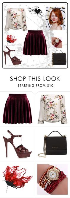 """Bez naslova #101"" by dinaa45 ❤ liked on Polyvore featuring Yves Saint Laurent and Givenchy"