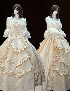 vendita steampunk®top maniche lunghe vestito dalla principessa del vestito da partito vittoriano partito reale lunghi abiti da ballo