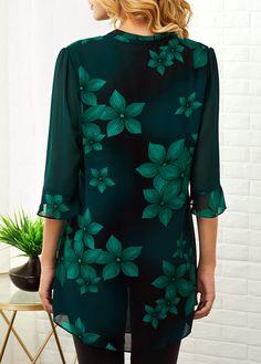 Three Quarter Sleeve Shop Womens Fashion Tops, Blouses, T Shirts, Knitwear Online Trendy Dresses, Trendy Outfits, Fashion Outfits, Womens Fashion, Trendy Clothing, Fashion Clothes, Trendy Tops For Women, Blouses For Women, Printed Blouse