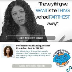 Kim Ades - Part 1 PEP 162 http://ift.tt/1ZXiAu4 #twitter  Topics For This Podcast Include... - How one instant in your life affects all areas of your life and reveals so much about you - How the thing we want more than anything is the thing we deny ourselves - How journaling exposes behavior and patterns so you can take a good long look at yourself - How you see the world is a reflection of how you see yourself - And so much more