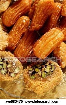 Kunafa and sesam honey fritters