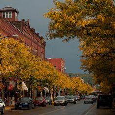 Main St., Corning NY in the Fall.