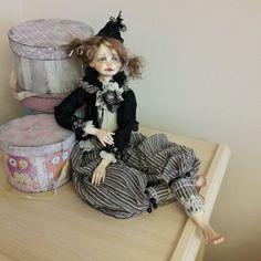 Купить Черничка-подвижная кукла - интерьерная кукла, интерьерная игрушка, подвижная кукла