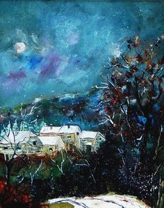 Village enneige (2) by Pol Ledent