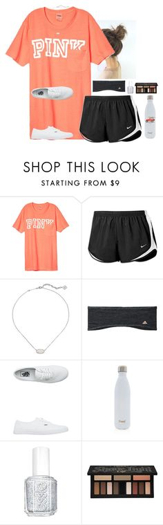 """""""If I wore this outside...I would probably freeze lol"""" by kaye-376 ❤ liked on Polyvore featuring NIKE, Kendra Scott, adidas, Vans, S'well, Essie and Kat Von D"""
