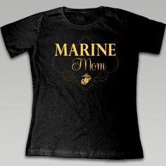 Marine Ladies Mom T-Shirt