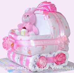 Diaper Cake Pattern | nappy cake for girls